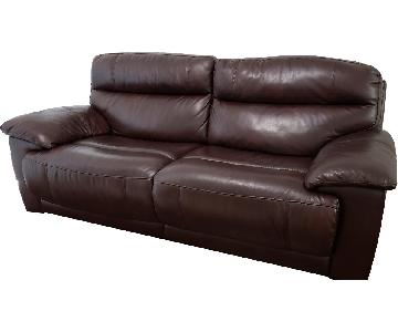Raymour & Flanigan Leather Recliner Sofa