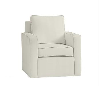 Pottery Barn Cameron Square Arm Swivel Chairs
