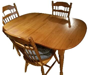 Hardwood Dining Table w/ 6 Chairs