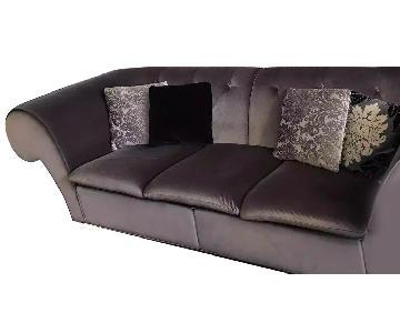 Italian Velvet Chesterfield sofa