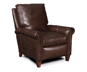 Bradington Young Brown Leather Reclining Lounger Chair