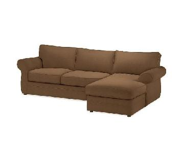 Pottery Barn Pearce 2 Piece Chaise Sectional Sofa