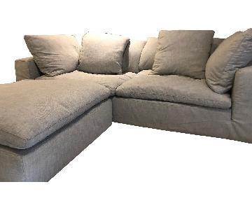 Restoration Hardware Cloud 2-Seat Sofa & Ottoman