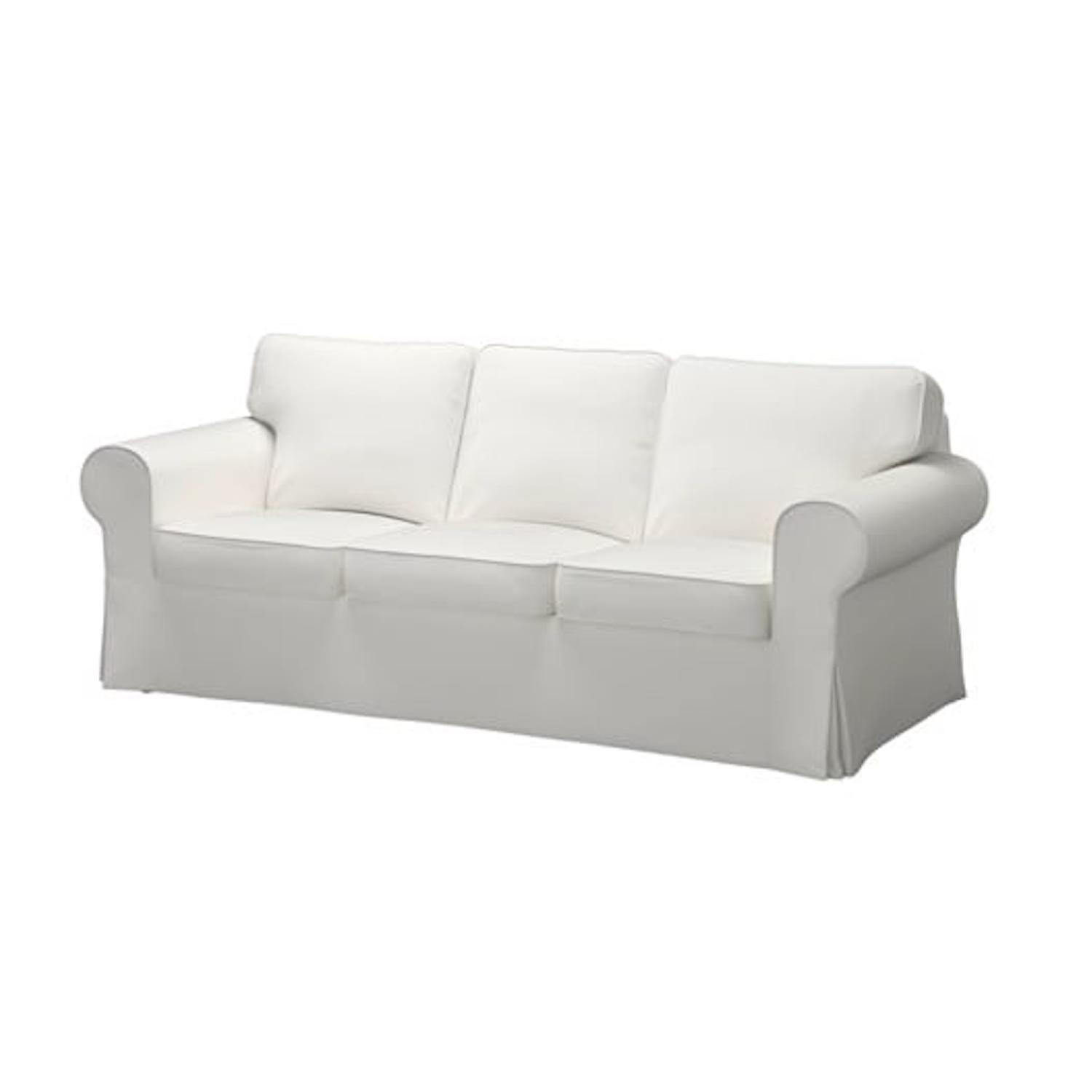 Ordinaire Ikea Ektorp White Canvas Sofa ...
