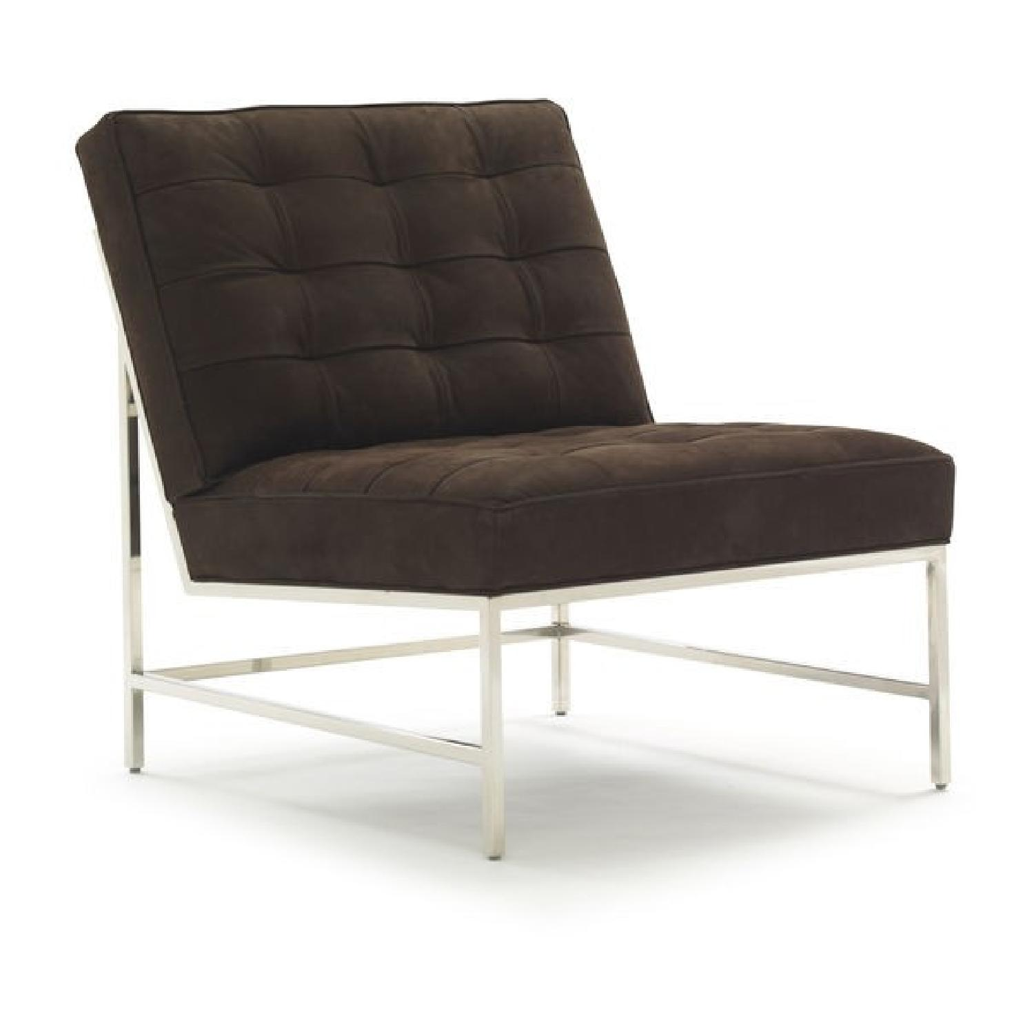 Mitchell Gold + Bob Williams Major Leather Armless Chair-0