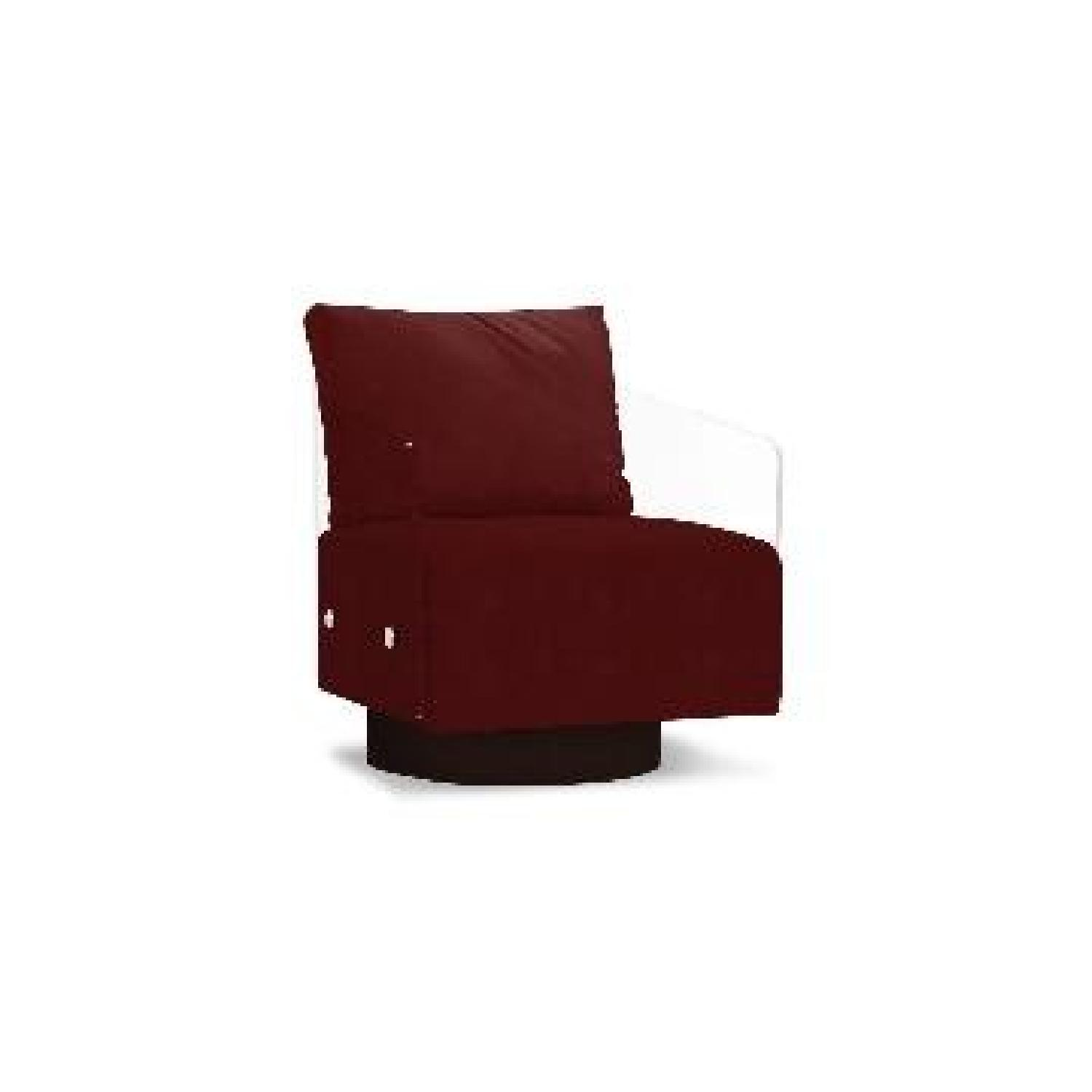 Mitchell Gold + Bob Williams Lucy Leather Full Swivel Chair-2