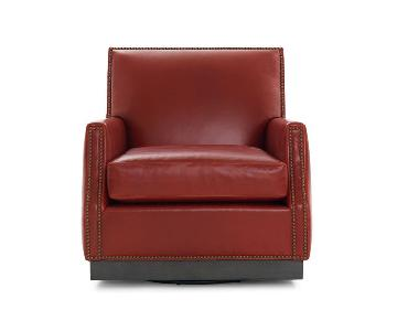 Mitchell Gold + Bob Williams Benson Swivel Chair Rojo-Rouge