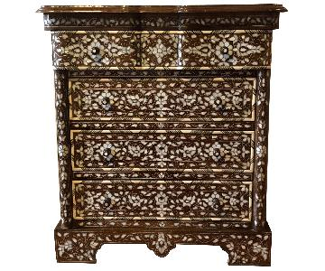 Syrian Wood Dresser w/ Inlaid Mother-Of-Pearl