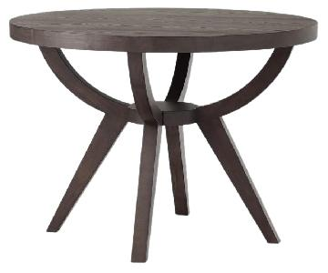 West Elm Arc Base Pedestal Table in Smoke