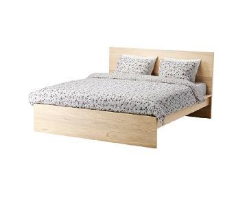 Ikea Malm Bed Frame w/ Headboard & Lonset