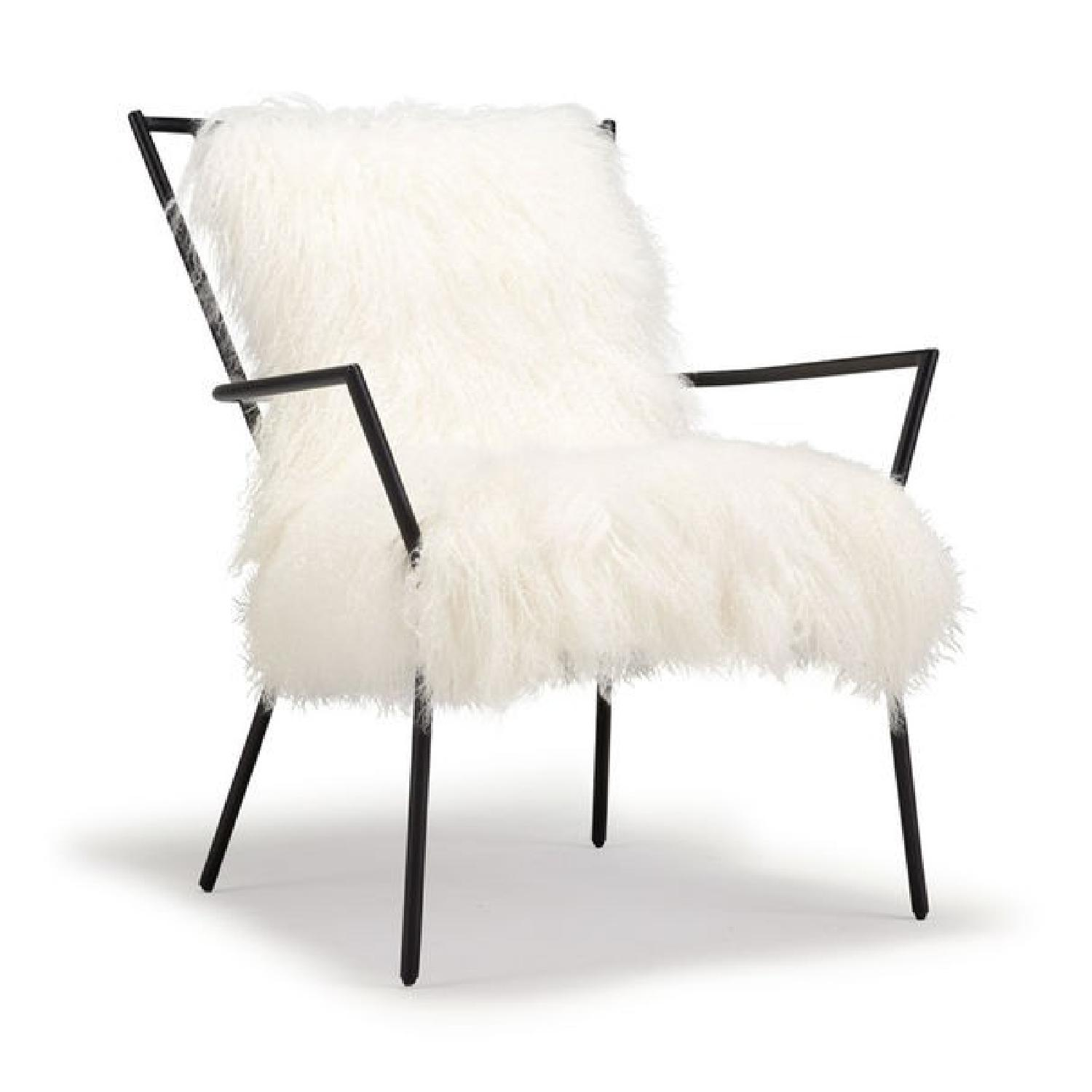 Mitchell Gold + Bob Williams Ansel Chair in White Fur