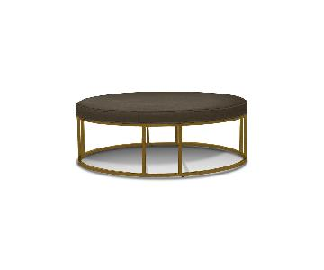 Mitchell Gold + Bob Williams Carmen Leather Round Ottoman