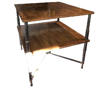 French Empire Iron Leg Side Table