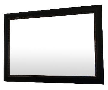 Home Goods Black Wood Mirror