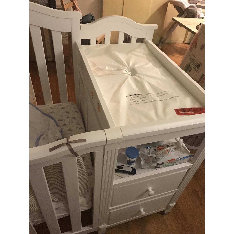 Sorelle Berkley 4 In 1 Convertible Crib Changer In White Aptdeco