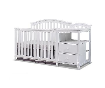 Sorelle Berkley 4-in-1 Convertible Crib & Changer in White