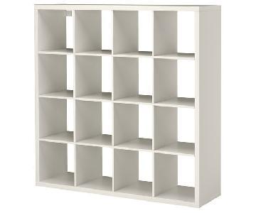 Ikea White Kallax Shelf Unit w/ Baskets