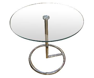 Glass Circular Side Table