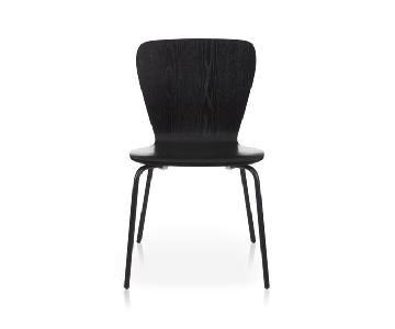 Crate & Barrel Felix Black Dining Chairs