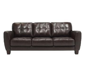 Raymour & Flanigan Gino Leather Sofa