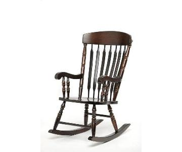 Amish Wooden Rocking Chair