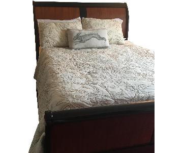 Arhaus Positano Queen Sleigh Bed w/ Footboard