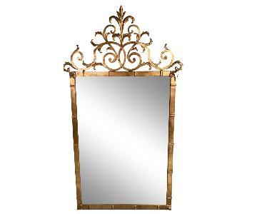 Palladio Italian Gilt Wrought Iron Mirror
