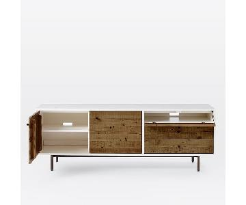 West Elm Reclaimed Wood + Lacquer Storage Long Media Console