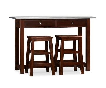 Pottery Barn Balboa Counter-Height Table w/ 2 Stools