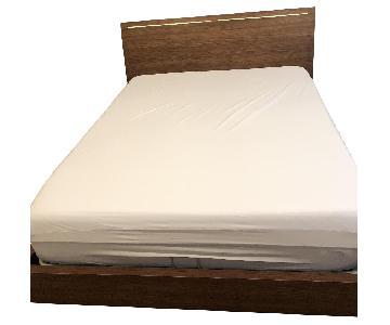 Lazzoni Tuta Queen Size Storage Bed in Walnut