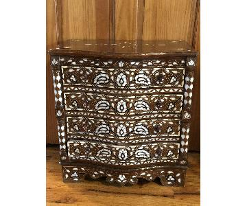 Syrian Dresser Wood w/ Mother-Of-Pearl Inlay