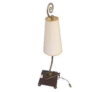 Wil Shepherd Gooseneck Brass Copper Table Lamp w/ Shade