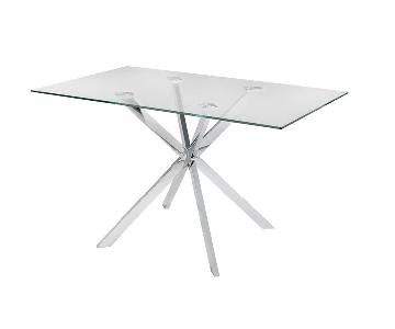 Wade Logan Dever Glass Dining Table