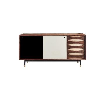 Organic Modernism Mid-Century Modern Wood Credenza
