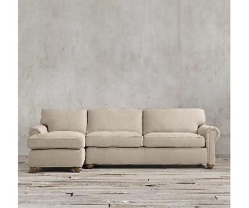 Restoration Hardware Lancaster Chaise Sectional Sofa