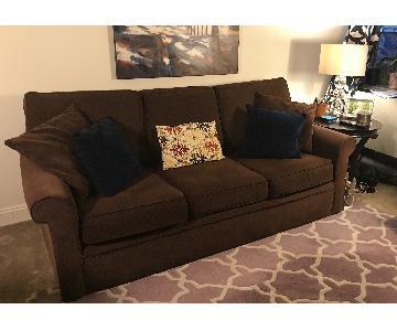 Rowe Furniture Dalton Chocolate Brown Sofa