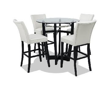 Bob's Matinee Bar Table w/ 4 White Chairs