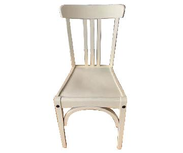 Restoration Hardware Distressed White Oak Wood Chairs