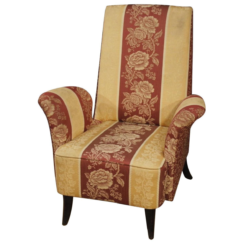 Italian Armchair in Floral Fabric