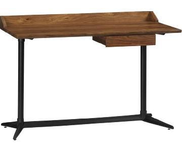 Crate & Barrel Wood Desk & Chair