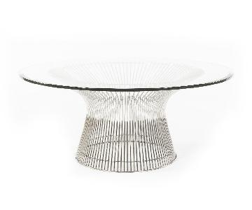 Stilnovo USA Mid-Century Circular Glass Coffee Table