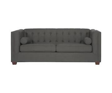 Coaster Cairns Charcoal Sofa w/ Tufted Back