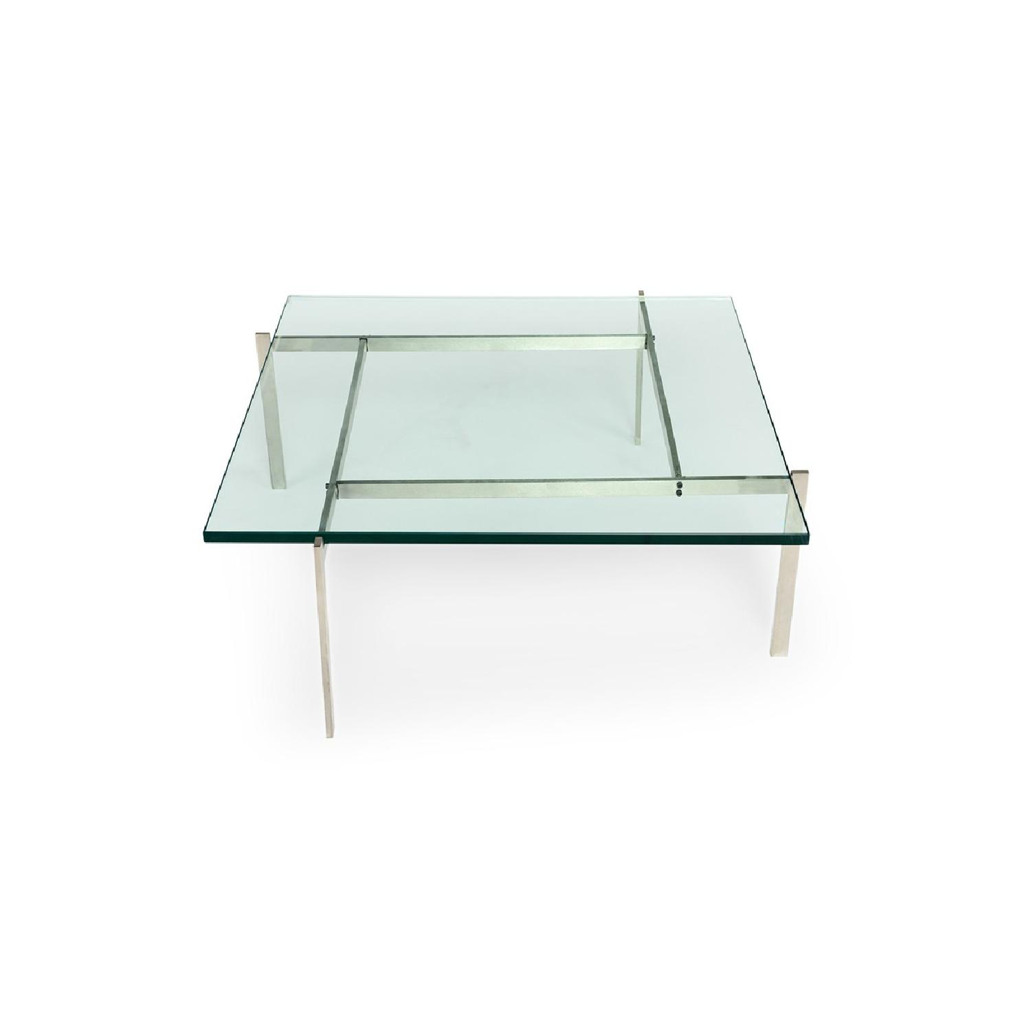 Kardiel Modern Square Glass Coffee Table