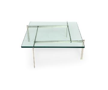 Kardiel Modern Square Glass Coffee Table