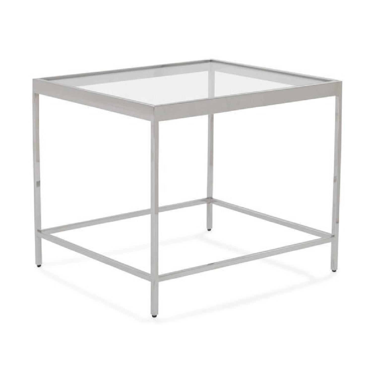 Mitchell Gold + Bob Williams Vienna Side Table in Pewter