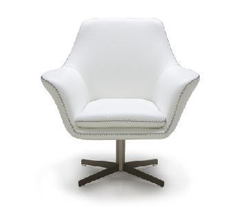 VIG Divani Casa Poli Leather Swivel Lounge Chair