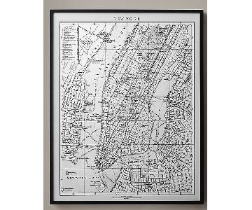 Restoration Hardware 1900s Lithograph Map of London