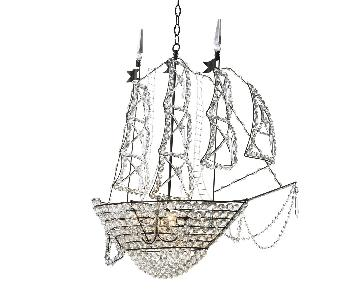 ABC Carpet and Home Sailing Ship Crystal Chandelier