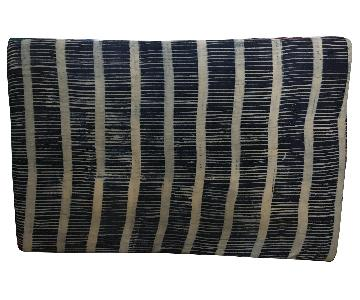 Custom Full/Queen Indigo Upholstered Headboard