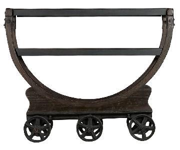 Restoration Hardware Vintage Wallpaper Factory Bar Cart